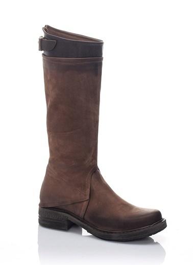 Hakiki Nubuk Deri Çizme-Bueno